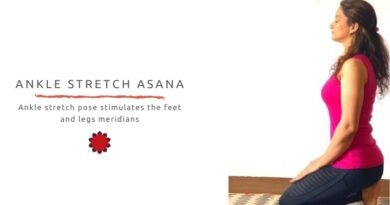 Ankle Stretch asana activates feet and legs meridians