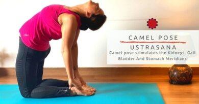 Camel pose – Ustra asana