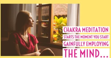 Chakra meditation is mind management