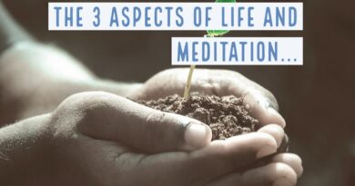Meditation balances the 3 Aspects of Life